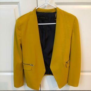 Deep yellow blazer by Zara
